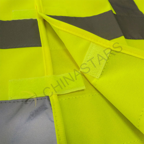 Safety vest with X reflective tape on the back