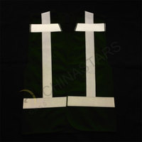 Reflective safety vest with cross reflective tape
