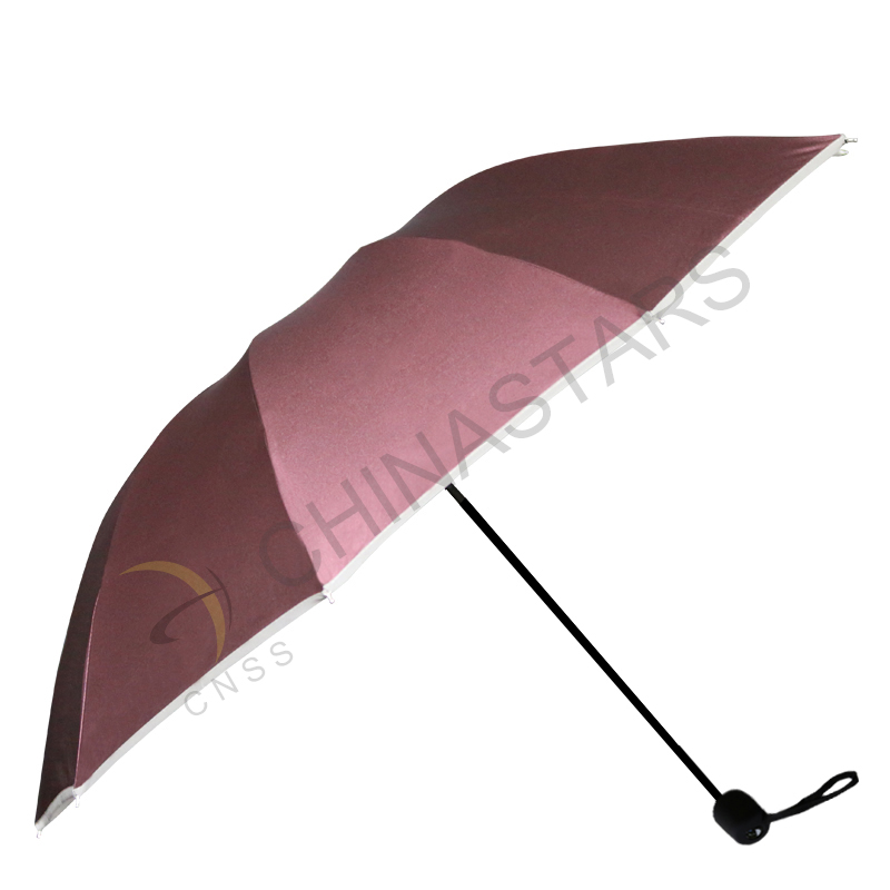 Sun Rain Three folding safety umbrella with reflective edge