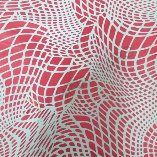 Reflective printing fabric with curve pattern