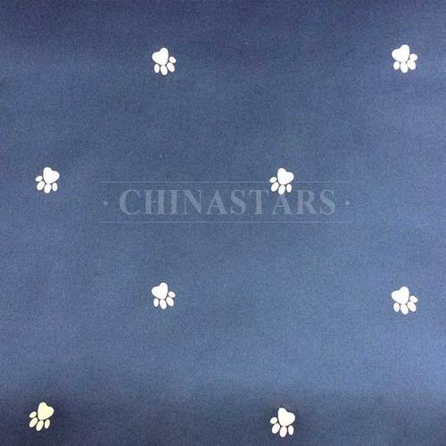 Reflective printing fabric-paw pattern