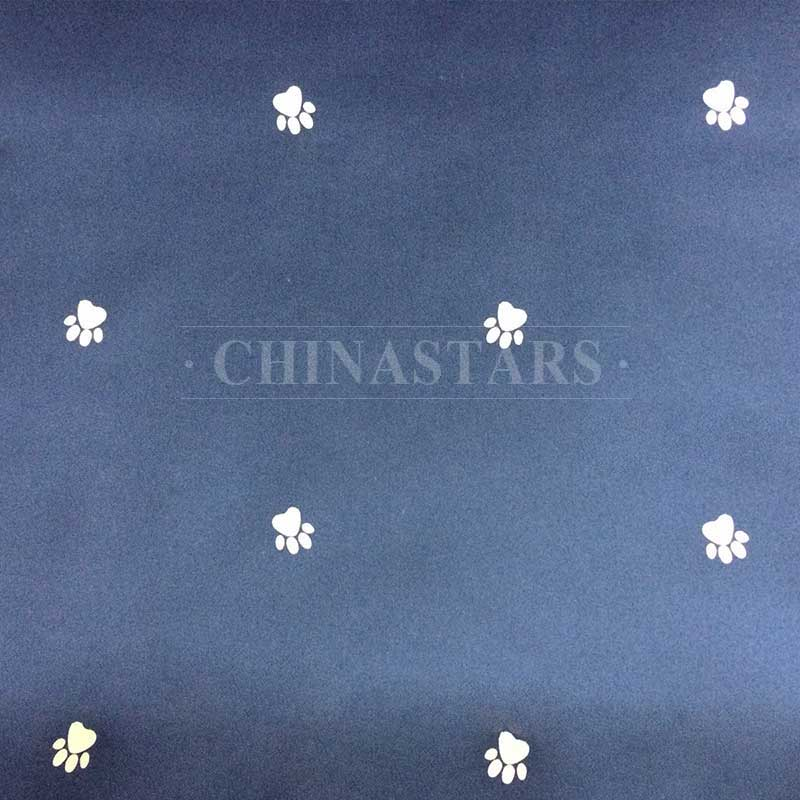 Reflective printing fabric-paw pattern