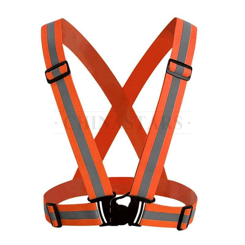 Elastic safety vest reflective belt for outdoor sports