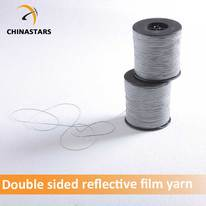 Double side reflective yarn for knitting
