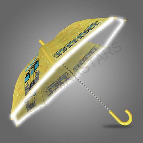 Stick safety umbrella with reflective edge for children
