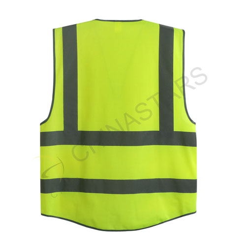 Safety reflective vest with multifunctional pockets