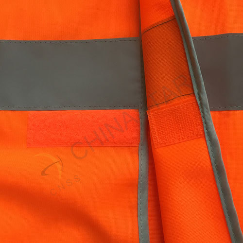 Fluoresent orange reflective vest with polyster