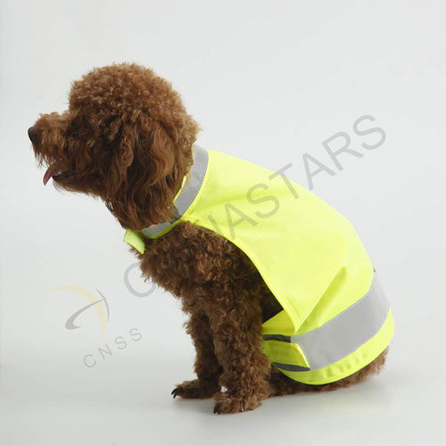 Fluorescent yellow pets safety vest with reflective strip