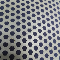 Reflective printing fabric with honeycomb pattern