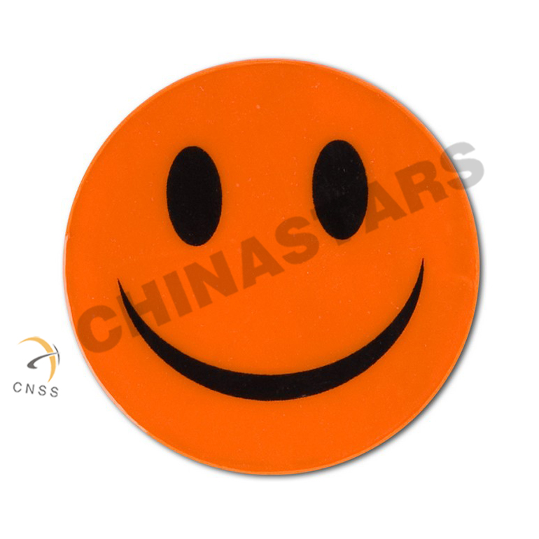 Smile shape reflective sticker for promotion