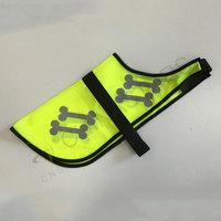 Dog safety vest with reflective bones pattern