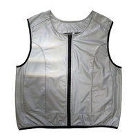 Silver reflective sports vest for outdoor activity