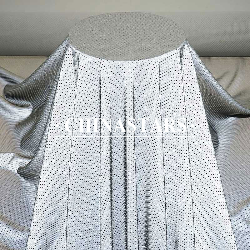 Thin spandex perforated reflective fabric