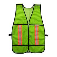 Fluorescent green mesh safety vest