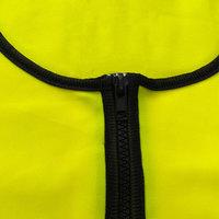 Two-tone color reflective vest with zipper closure