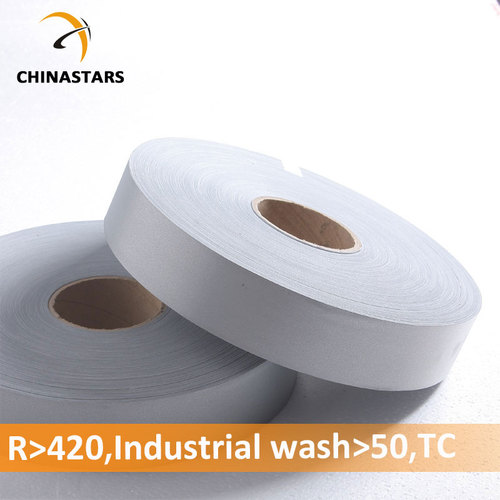 Silver certified industrial wash reflective fabric