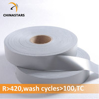 Certified industrial wash silver reflective fabric