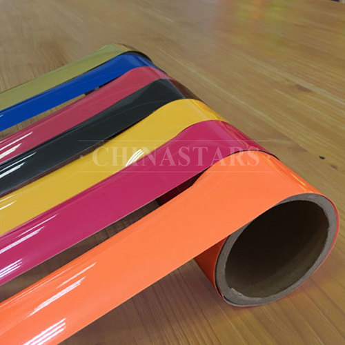 Colorful reflective heat transfer film