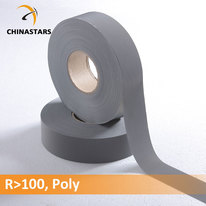 Polyester reflective fabric tape
