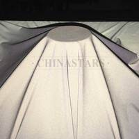Polyester pongee soft reflective fabric
