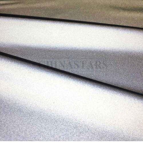 100% polyester chiffon soft reflective fabric