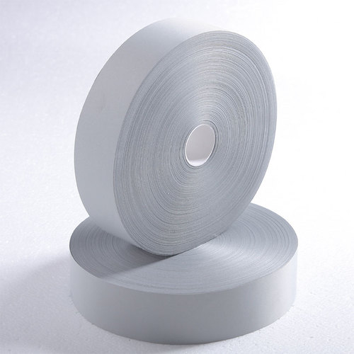 100% polyester silver reflective tape meeting EN 20471