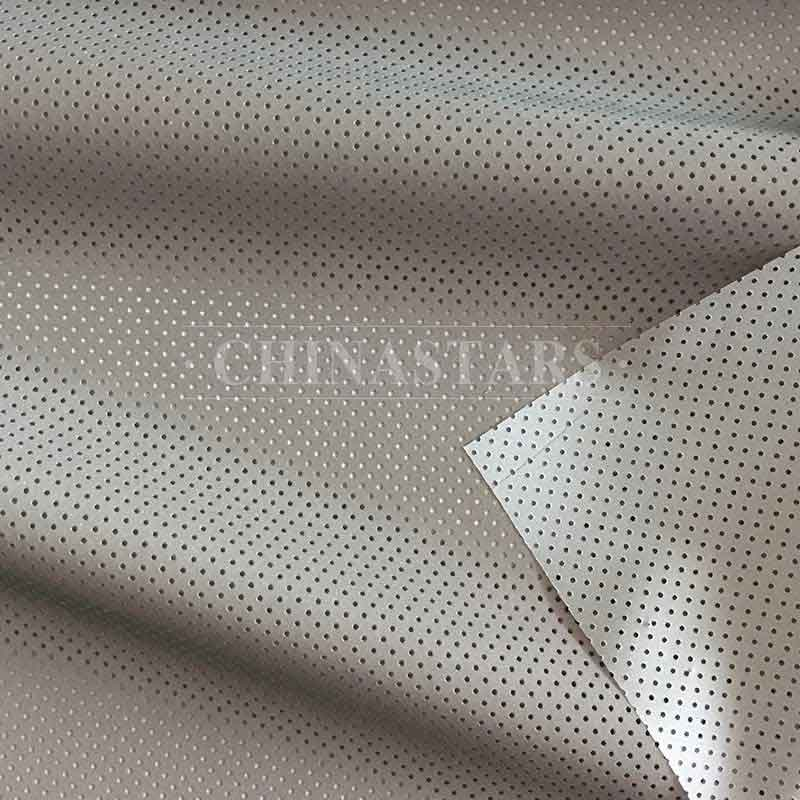 Polyester perforated reflective fabric