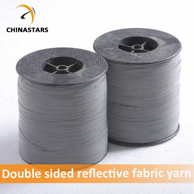 Double side reflective fabric yarn for knitting