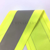 Reflective tape sewed on tricot fabric