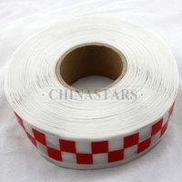 Checkerboard printing reflective prismatic PVC tape
