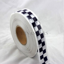 Checkerboard printing reflective prismatic PVC tape