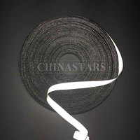 Silver double sided reflective spandex fabric for edging