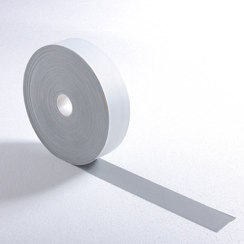 silver single side elastic reflective fabric