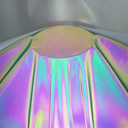 polyester rainbow reflective fabric