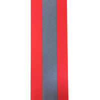 Flame resistant reflective tape orange-silver-orange