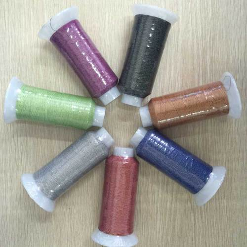 Reflective thread for knitting or embroidery