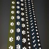 Customizable transfer printing reflective webbing