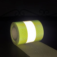 Perforated Flame retardant reflective tape with sewing path