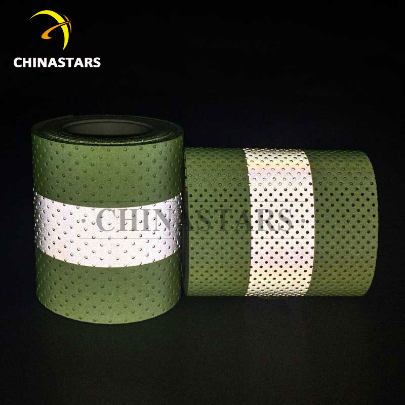 Csr 1303 Fr2y P Perforated Flame Retardant Reflective Tape