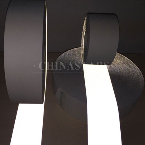 High visibility flame retardant silver reflective tape