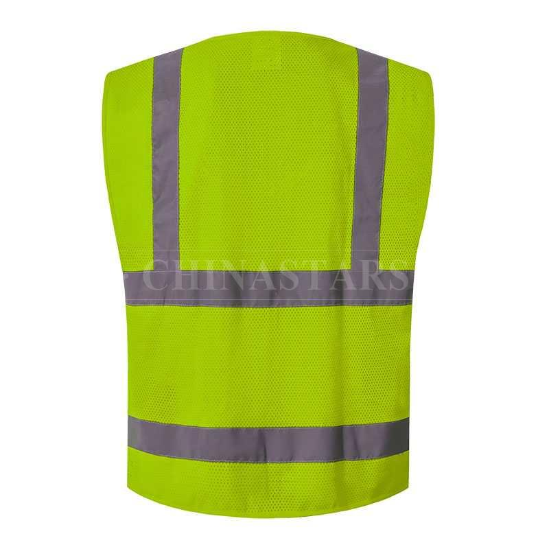Mesh Reflective Vest With 4 Pockets