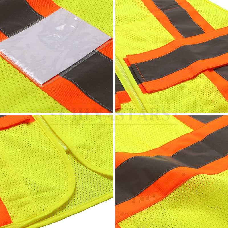 High visibilty reflective vest with pockets