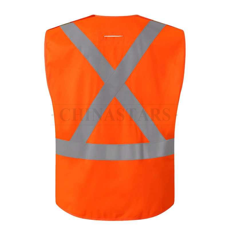 Class 2 high visibility vest with hook and loop Closure