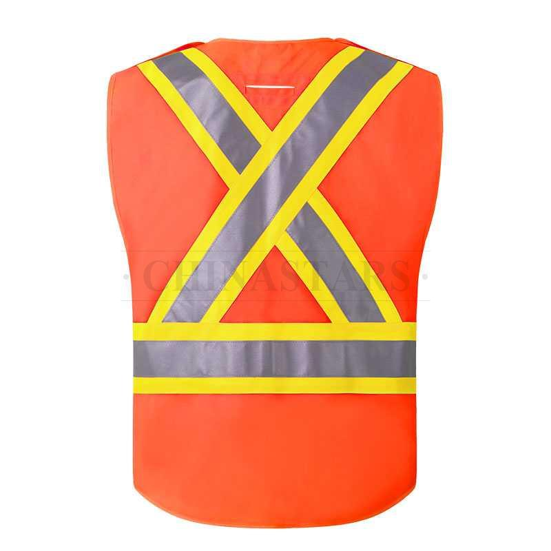 CSA-Z96 Class 2 reflective vest comes with 5-point breakaway