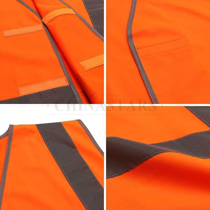 AS/NZS 4602.1 Class D/N reflective vest with reflective silver tapes