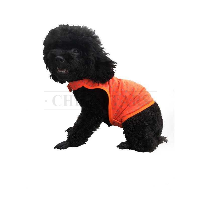 Fluorescent orange pet reflective vest