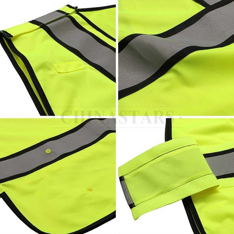 Breakaway safety traffic fluorescent yellow vest