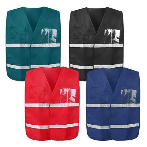 reflective vest with two horizontal reflective gloss tapes