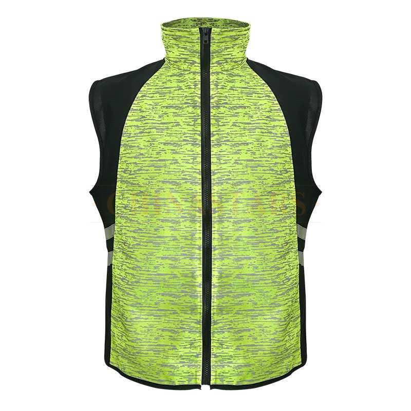 Fluorescent Yellow & Black reflective vest