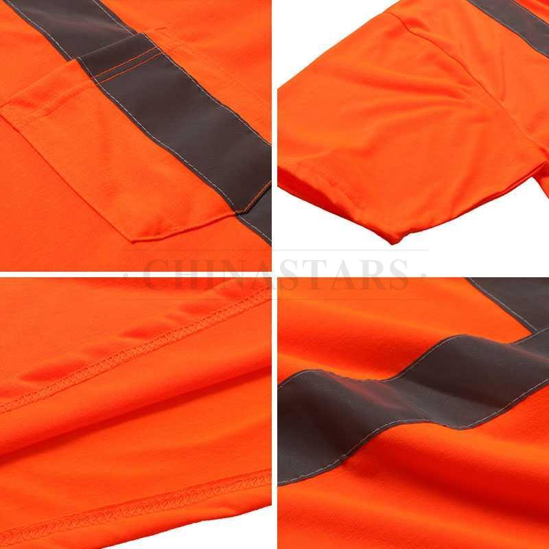 ANSI 107 & EN 20471 Class 2 reflective short sleeve shirt